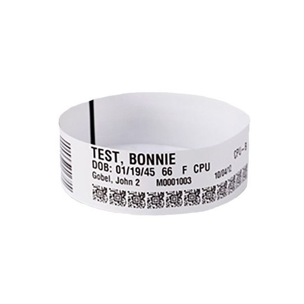 WRISTBAND CARTRIDGE KIT LA WRISTBAND SYNTHET DT 1X11IN ULTRA SOFT COATED PERM ADHESIVE